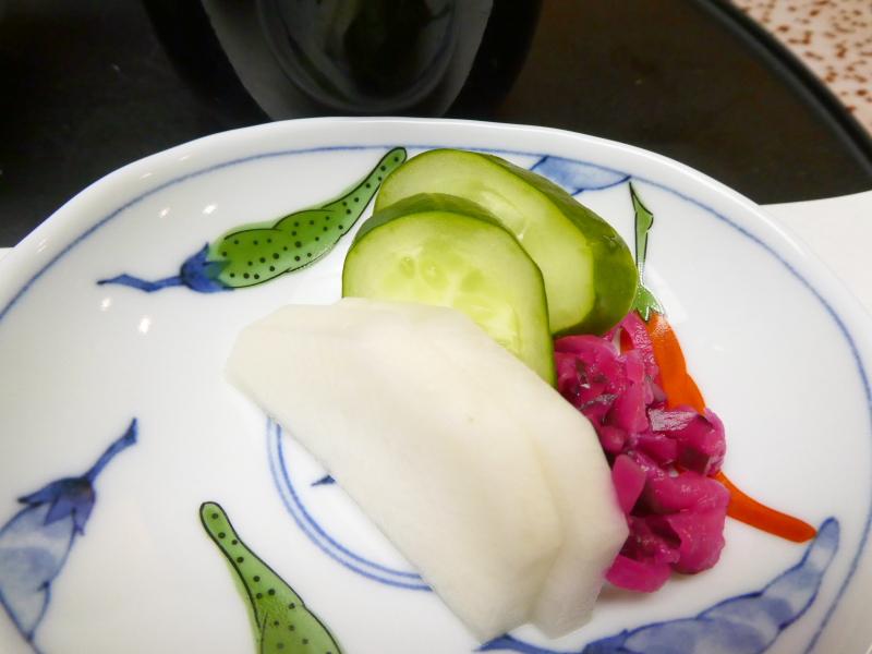 下田野の花亭こむらさきの夕食 香の物